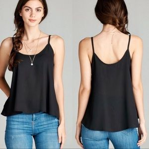 NWOT Polyester black top
